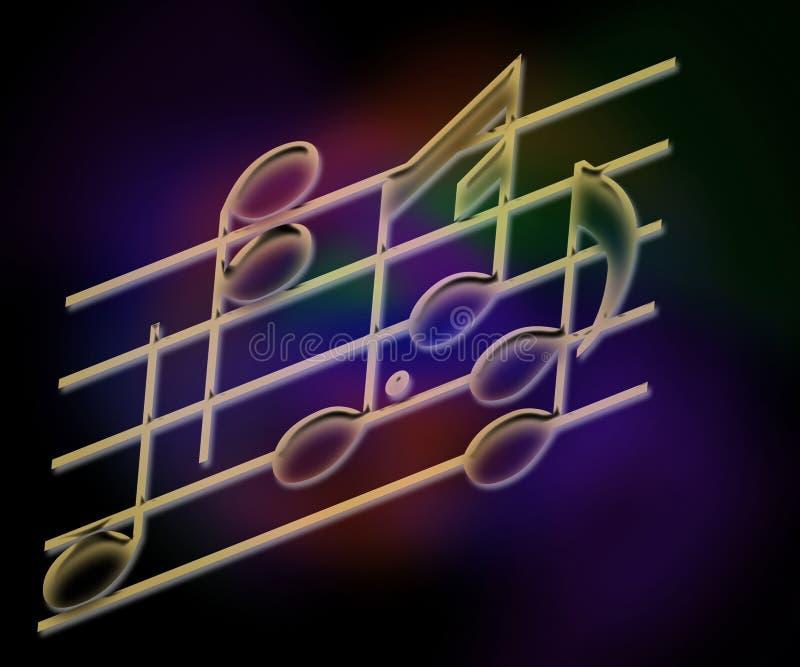 Barras y notas de la música stock de ilustración