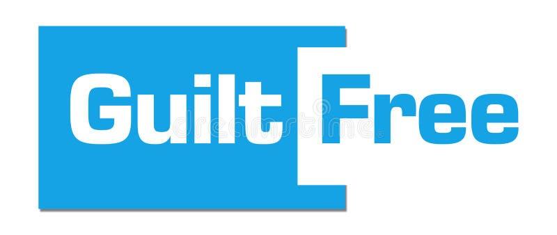 Barre abstraite bleue gratuite de culpabilité illustration stock