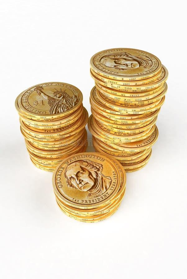 Barre dai dollari dell'oro fotografia stock