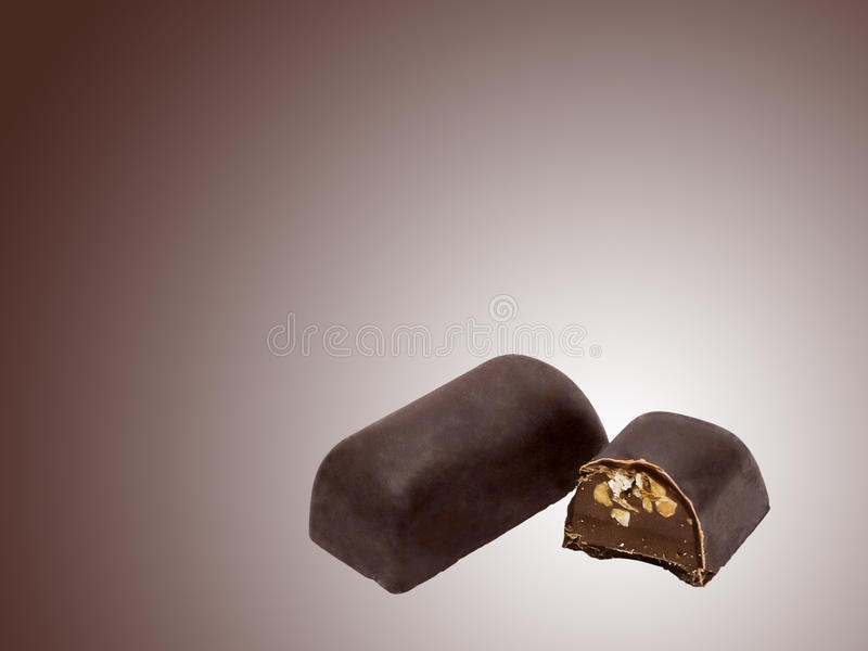 Barre de bonbons au chocolat photos libres de droits