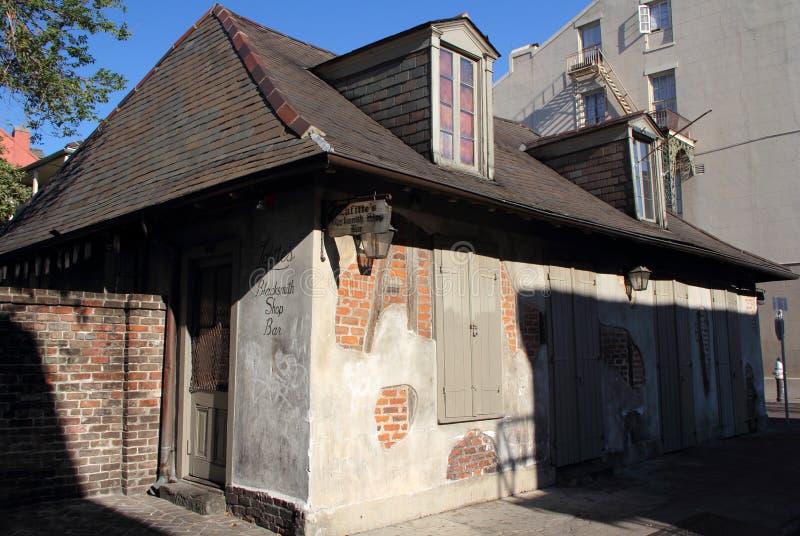 Barre de boutique du forgeron de Lafitte photo libre de droits