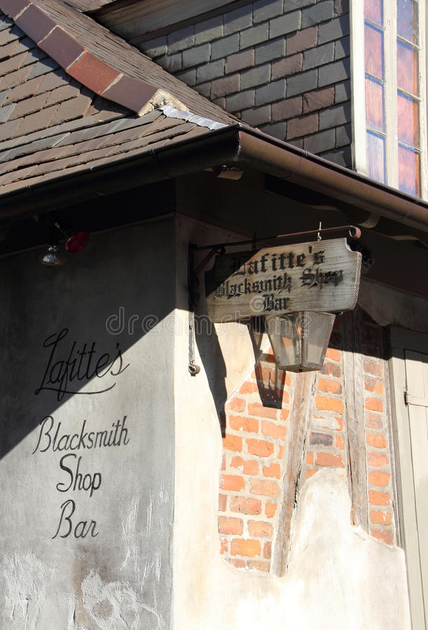 Barre de boutique du forgeron de Lafitte photos stock
