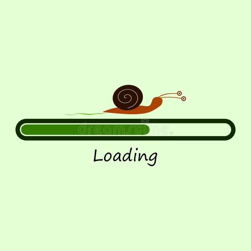 Barre de chargement avec l'escargot illustration stock