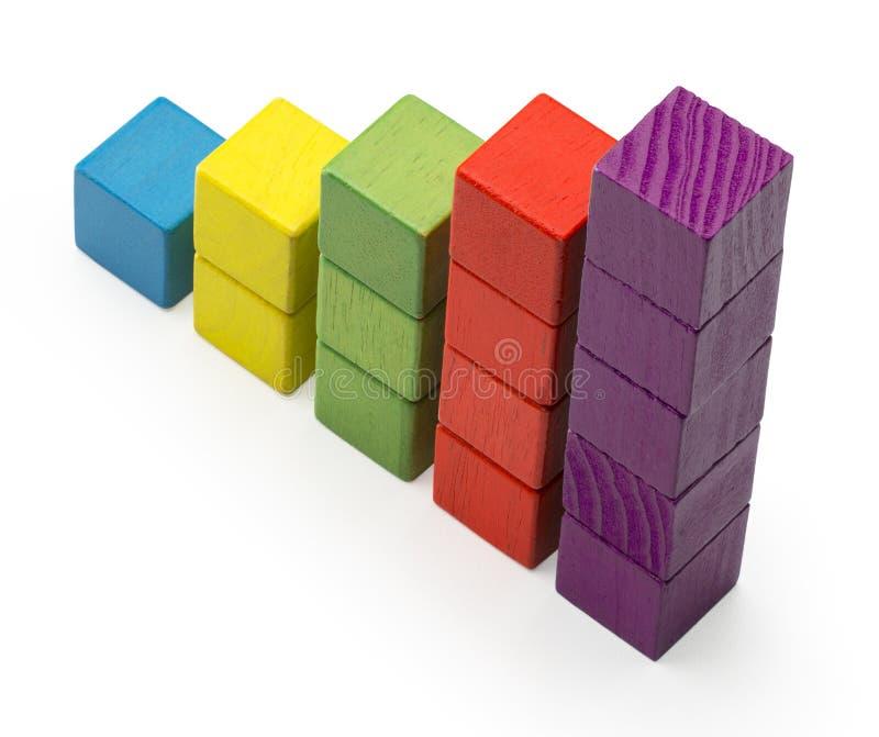 Barre de diagramme d'escalier d'Infographic, enfants Toy Blocks Info Graphic photo libre de droits