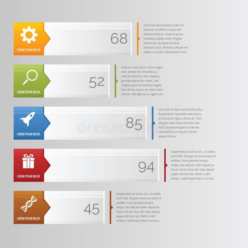 Barre de diagramme d'Infographic horizontale images libres de droits