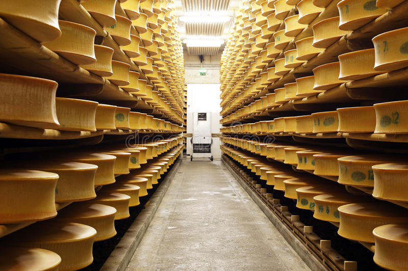 Barre de fromages images stock