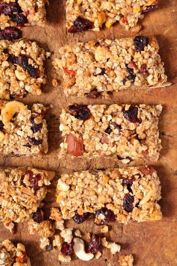 Barre de granola faite maison images stock