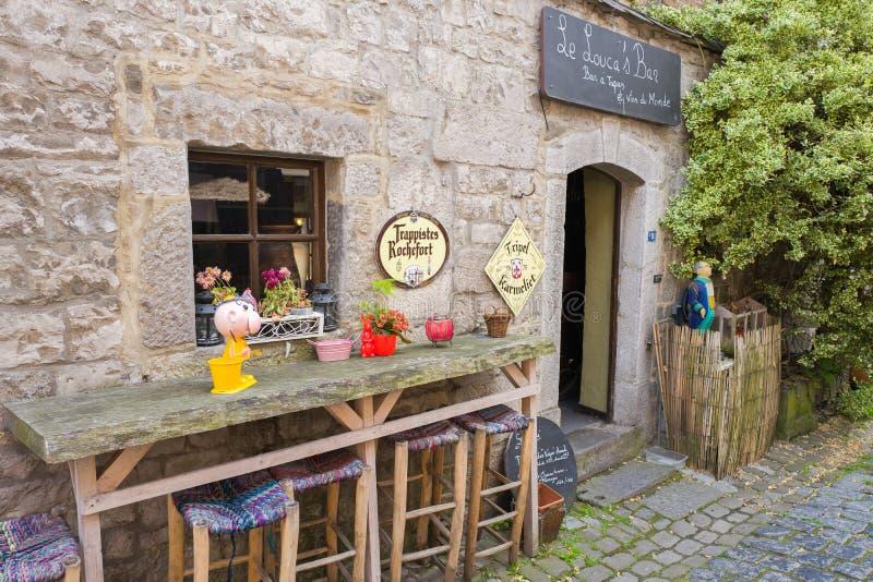 Barre de Le Louca's dans Durbuy photos stock