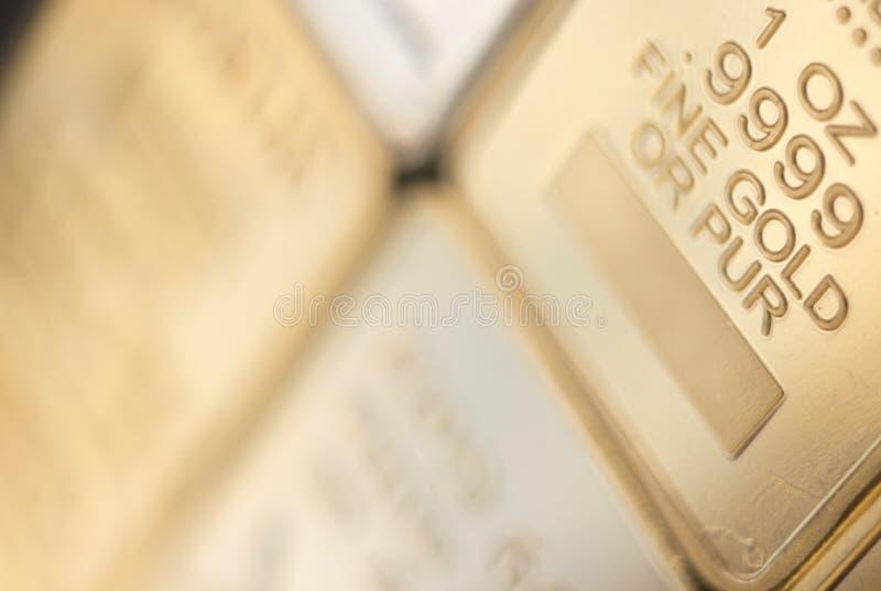 Barre de lingot de lingot d'or images libres de droits