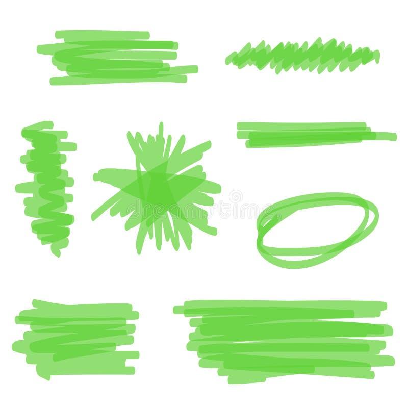 Barre de mise en valeur verte de vecteur illustration stock
