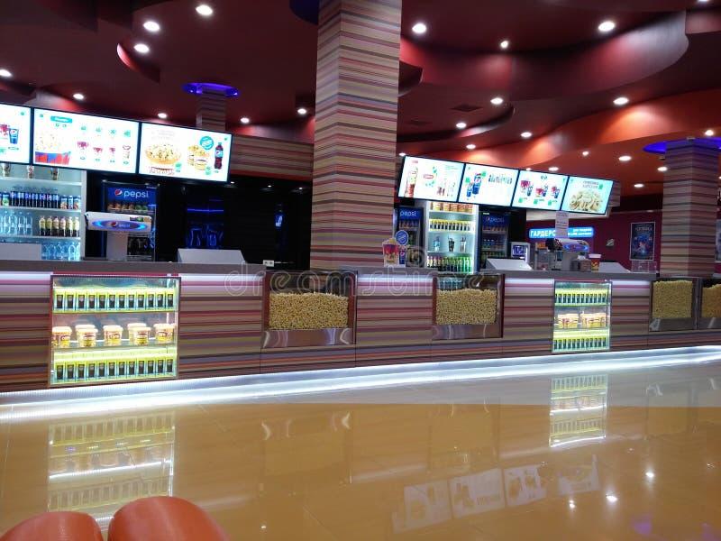 Barre de nourriture de salle de cinéma photo stock