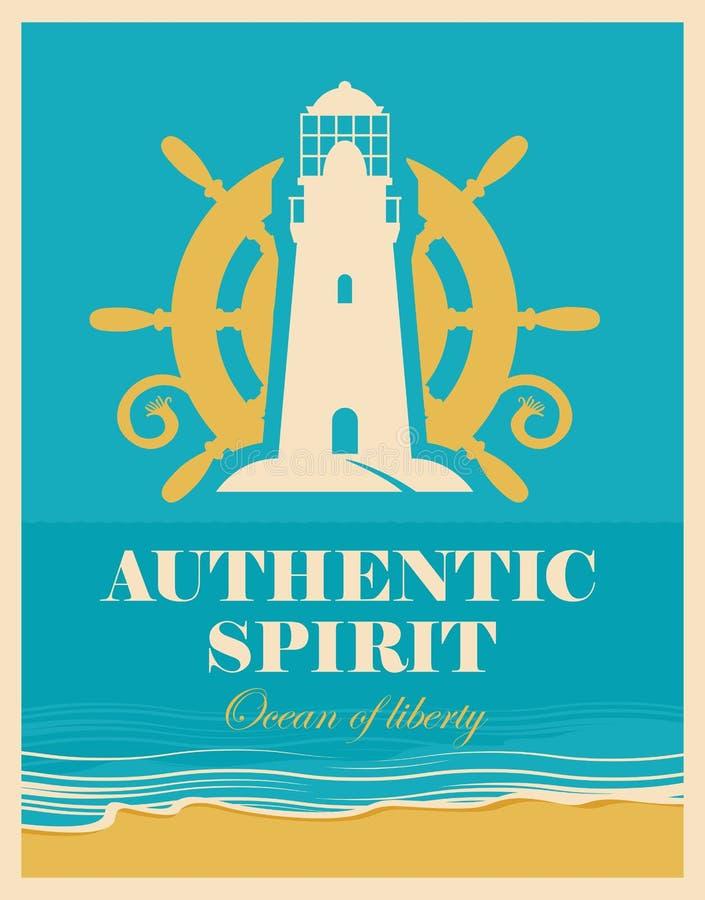 Barre de phare et de bateaux illustration libre de droits