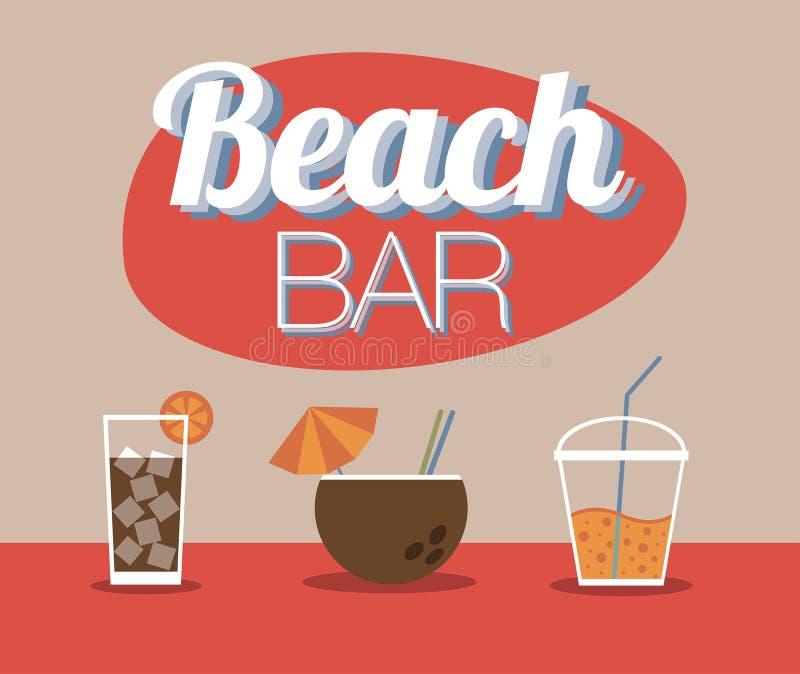 Barre de plage illustration de vecteur