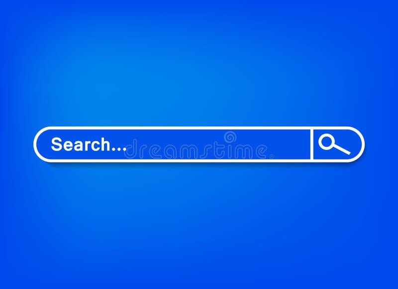 Barre de recherche, ensemble de calibre de recherche illustration libre de droits
