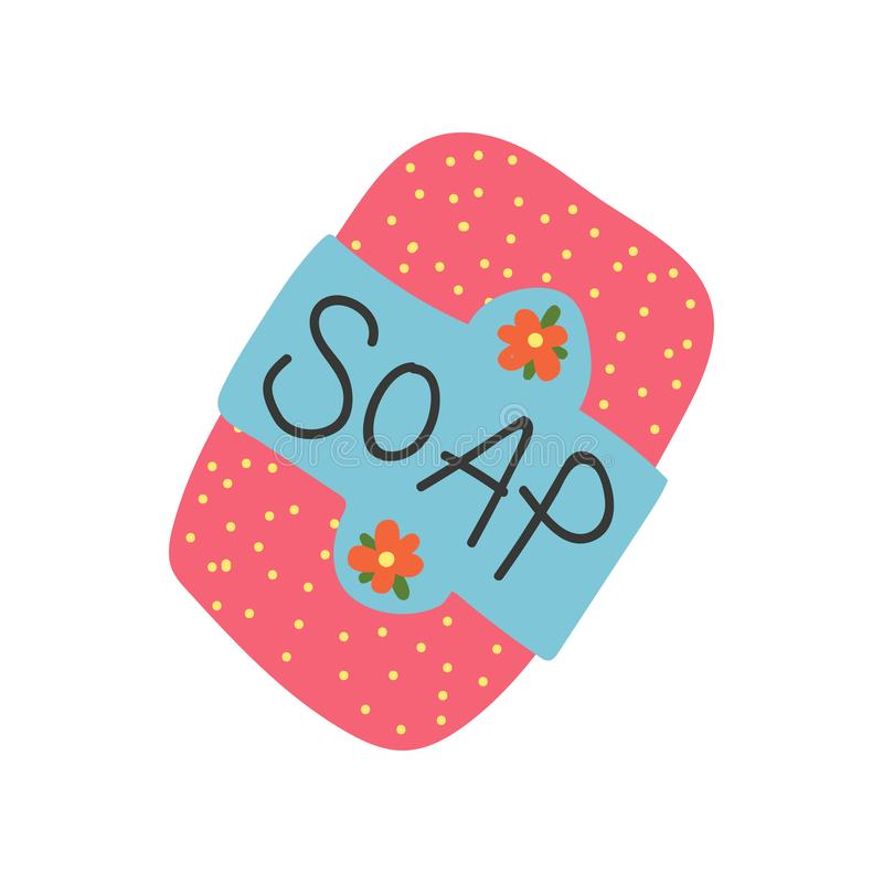 Barre de savon, objet r?utilisable de rebut nul, illustration de vecteur de concept de mode de vie d'Eco illustration de vecteur
