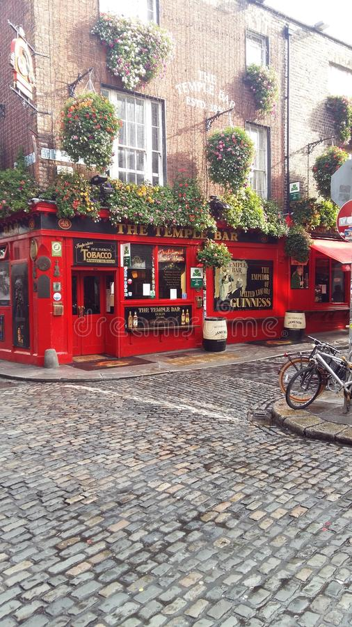 Barre de temple, Dublin City Area, rues de Dublin images stock