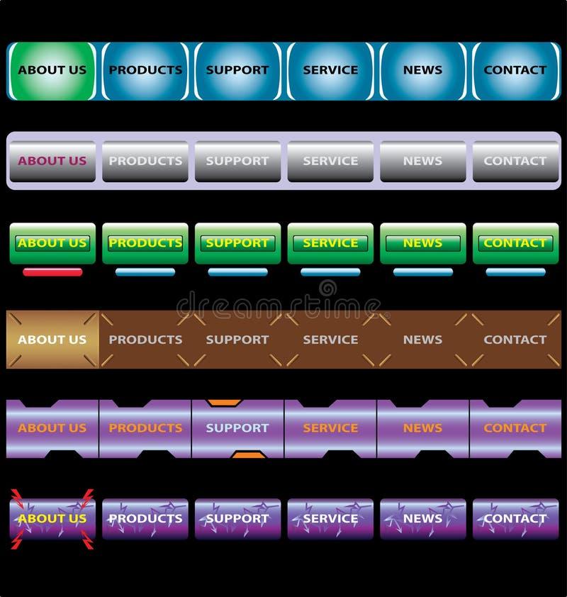 Barre dei menu illustrazione di stock