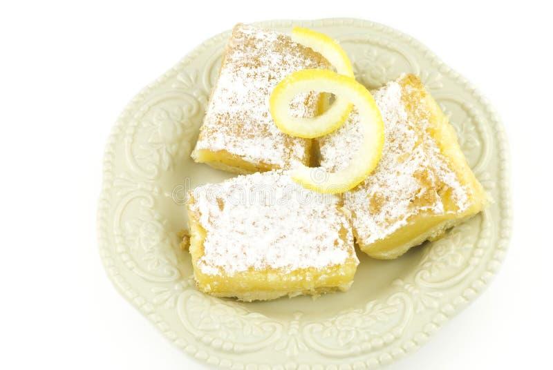 Barre del dessert del limone fotografia stock libera da diritti