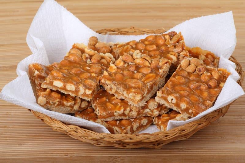 Barre della caramella al burro dell'arachide fotografia stock