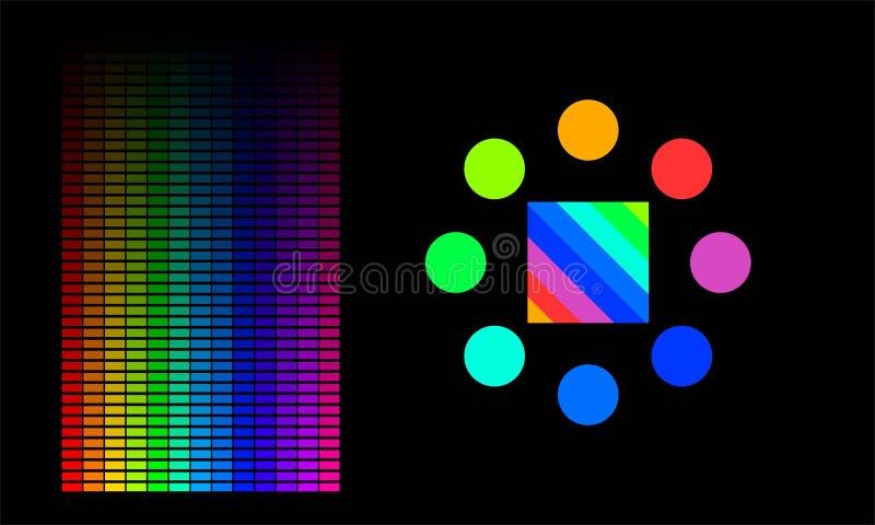 Barre della gamma di colore illustrazione vettoriale