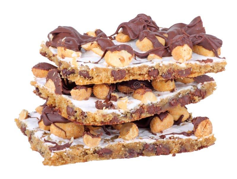 Barre di arachide del cioccolato fotografia stock libera da diritti