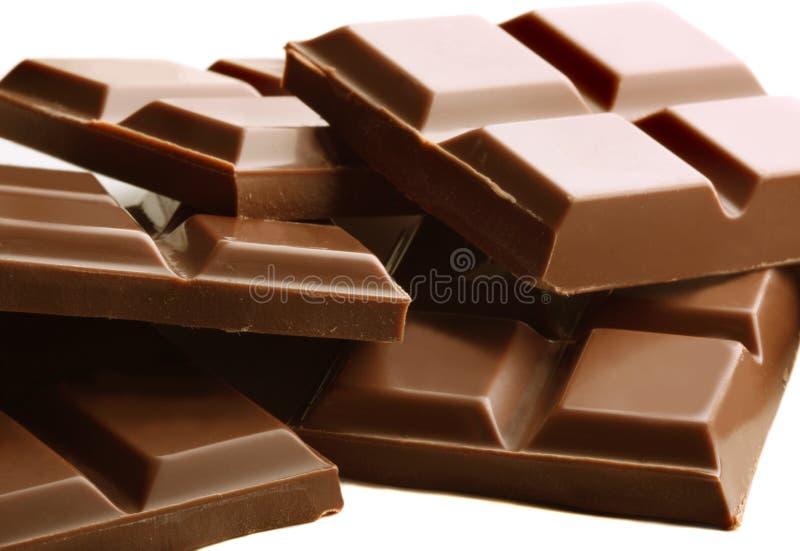 Barre di cioccolato immagini stock libere da diritti