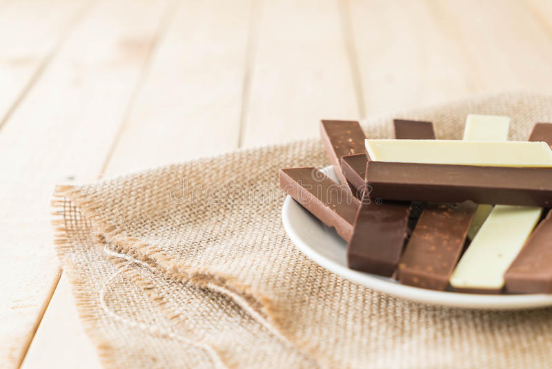 Barre di cioccolato fotografia stock