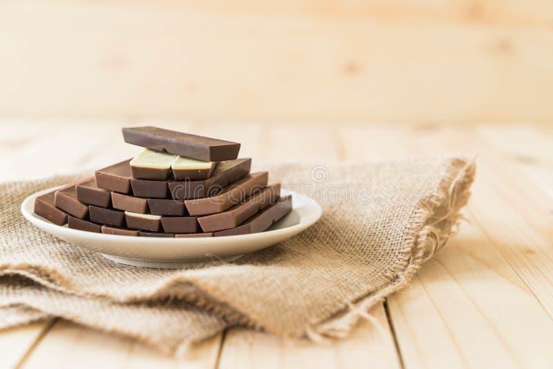 Barre di cioccolato immagini stock