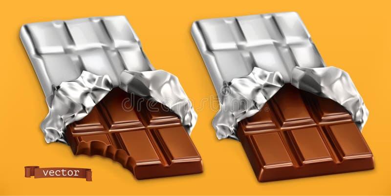 Barre di cioccolato, vettore realistico 3d royalty illustrazione gratis