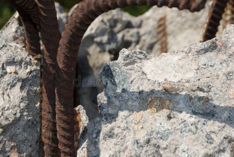 Barre di ferro arrugginite immagine stock