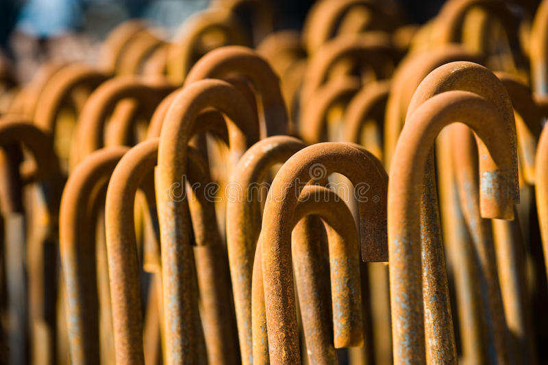 Barre di ferro arrugginite immagini stock libere da diritti