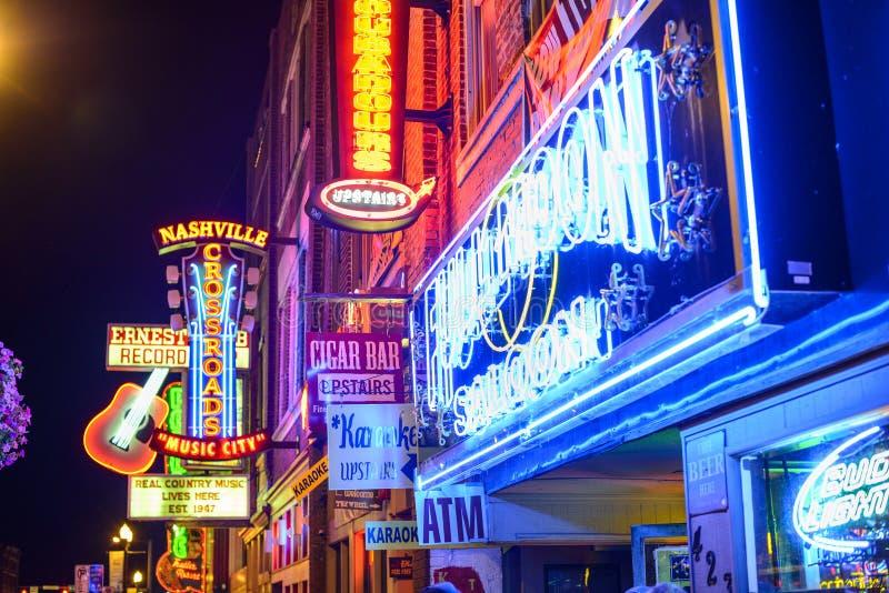 Barre di Nashville Honkey Tonk immagine stock