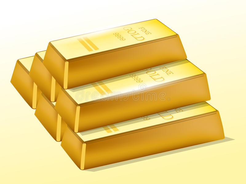 Barre di oro illustrazione di stock