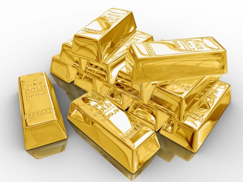 Barre di oro. illustrazione vettoriale