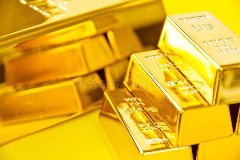 Barre di oro immagini stock