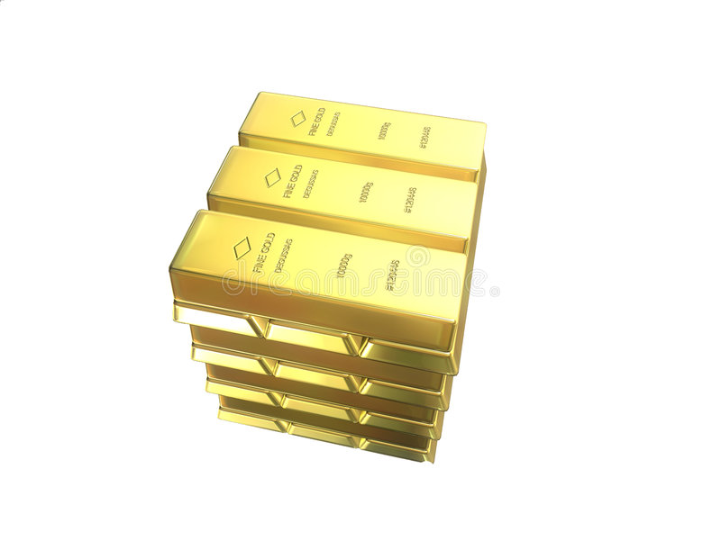 Barre di oro illustrazione vettoriale