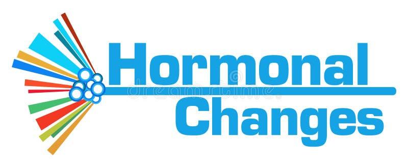 Barre graphique colorée de changements hormonaux illustration stock