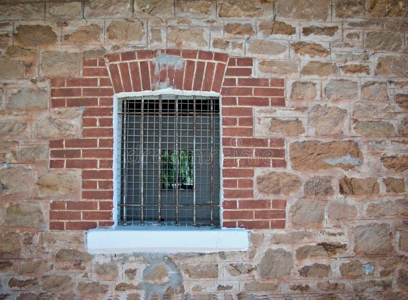 Barred Jail Window Stock Photo