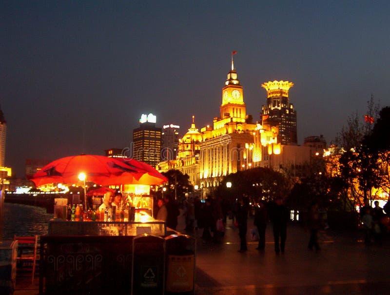 A barreira na noite - Shanghai imagens de stock royalty free