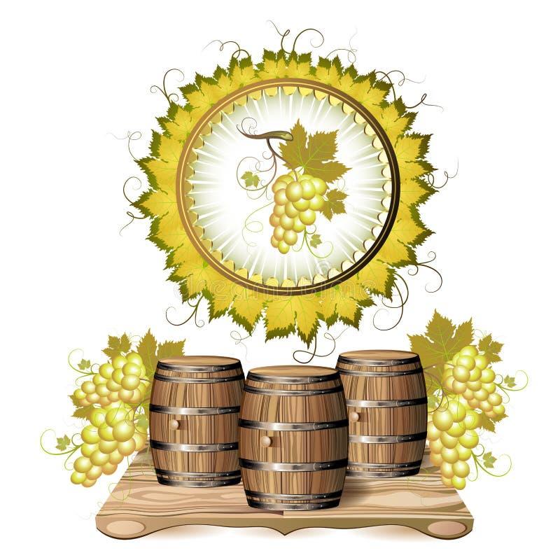 barrel вино иллюстрация штока