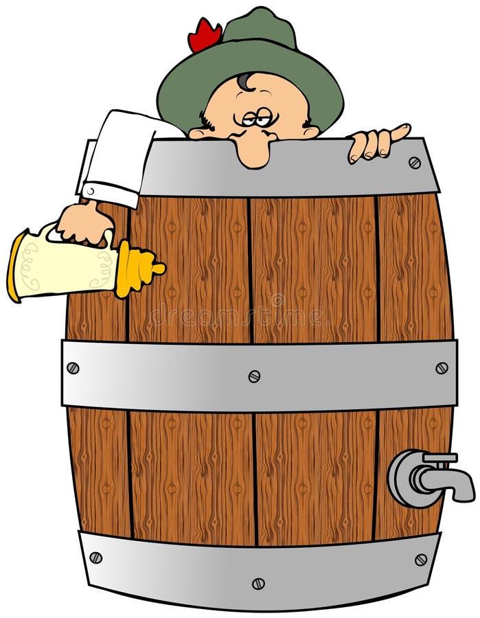 barrel выпито иллюстрация штока