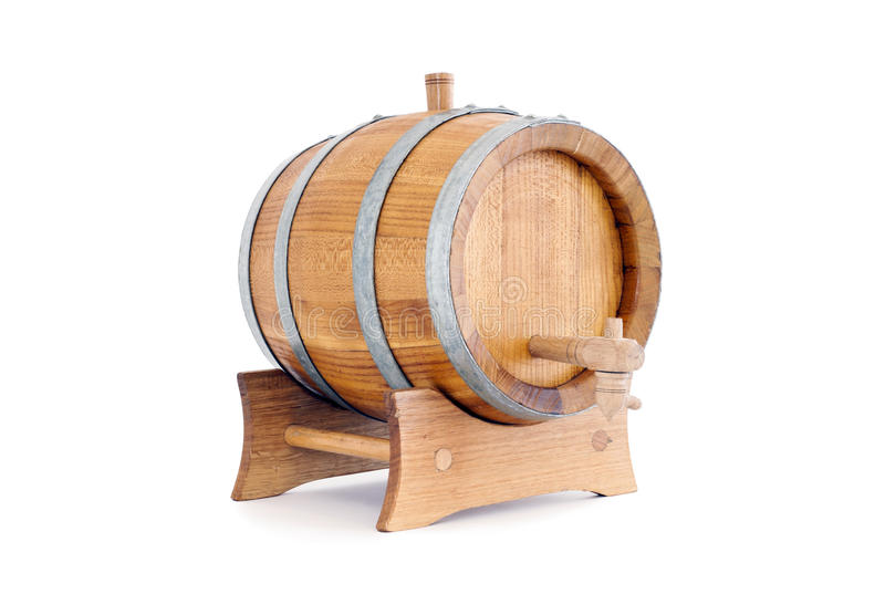 Barrel. Of a white background isolated stock photography