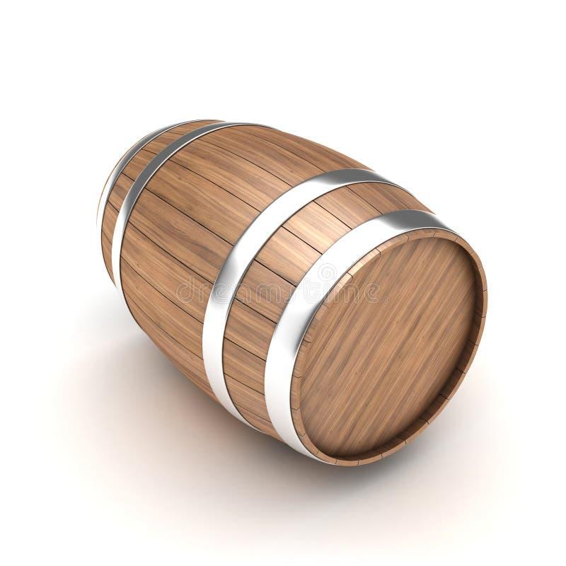 Barrel. Illustration of wooden barrel on a white background royalty free illustration