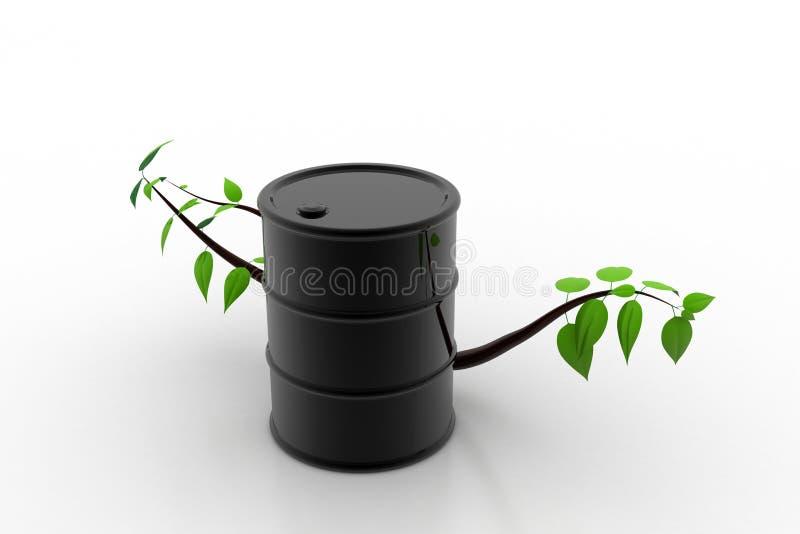 Barrel of bio fuel, environment concept royalty free illustration