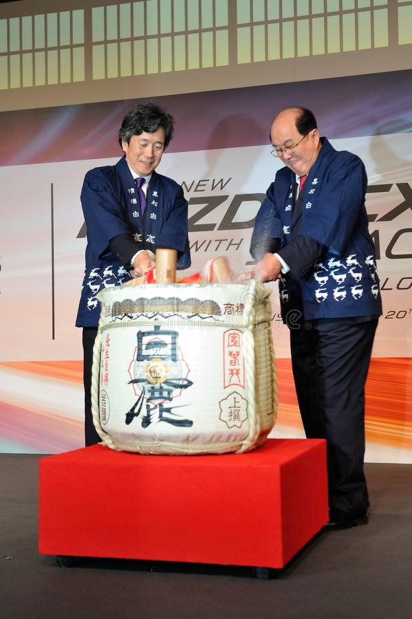 Barrel ceremony during launch of Mazda CX-5