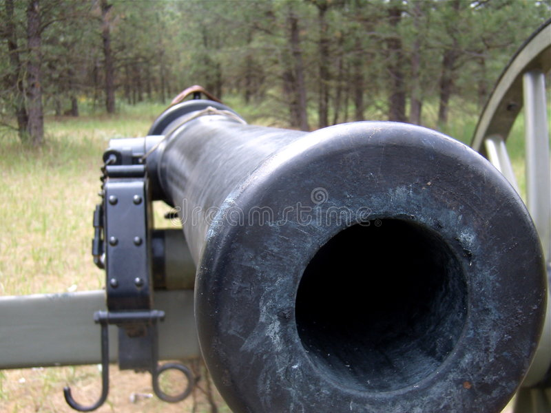 Download Barrel of Civil War Cannon stock image. Image of weapon - 5287257