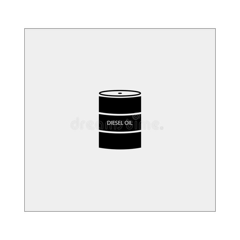 Barrel with diesel icon. Gray background. Vector illustration. Barrel with diesel icon. Gray background. Vector royalty free illustration