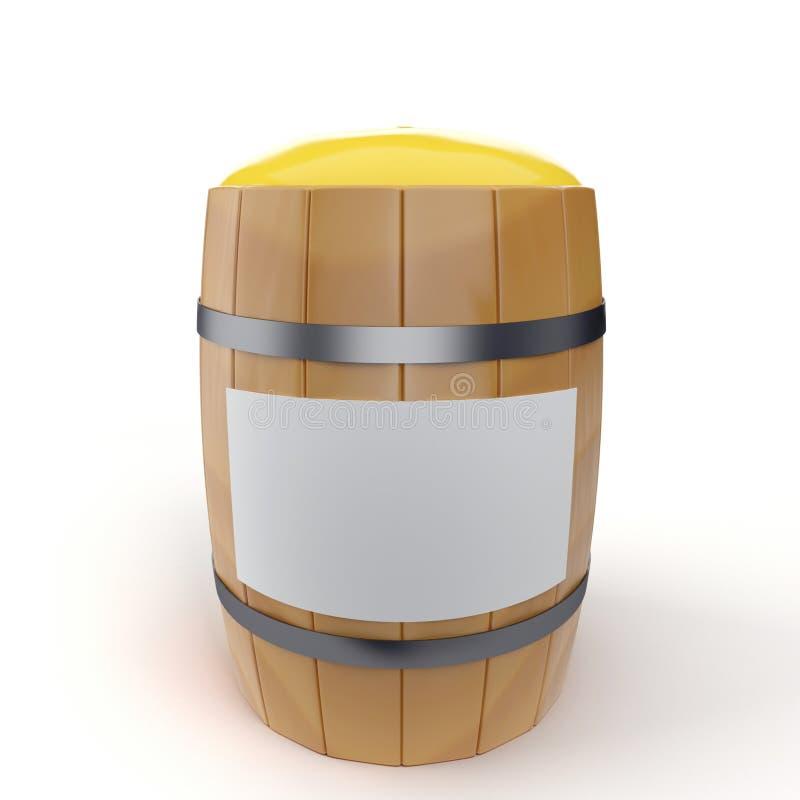 Barrel with honey vector illustration
