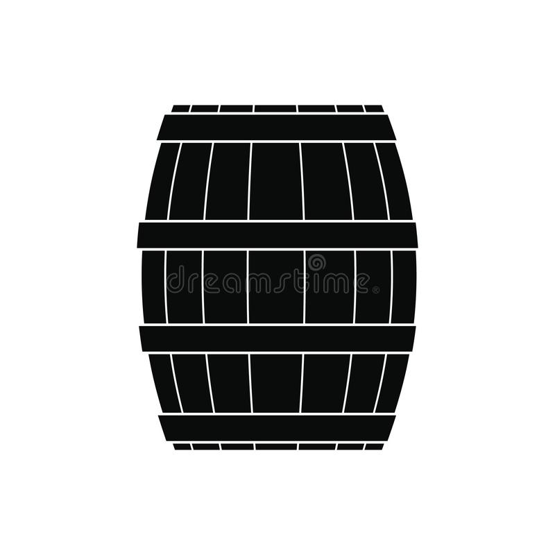Barrel with honey black simple icon royalty free illustration