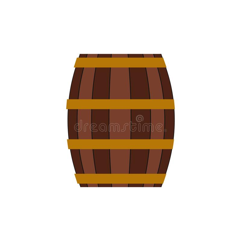 Barrel with honey flat icon vector illustration